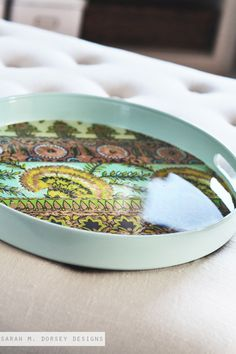 Fixing a cracked tray,...awesome! : sarah m. dorsey designs: Aqua Tray Update | How to Fix a cCrack in a Tray