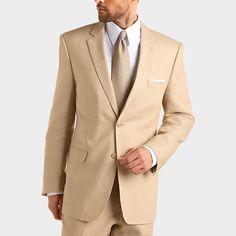 Andrew Fezza Tan Linen Slim-Fit Suit | Men's Wearhouse