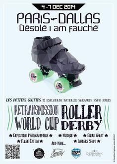 Jusqu'au 7 décembre suivez la coupe du monde de #rollerderby à Paris au bistrot les Petites gouttes avec HawaiiSurf !