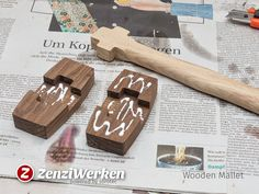 ZenziWerken | Klopfholz aus Eiche und Akazie / Wooden Mallet made from oak and acacia tree #woodworkingprojects