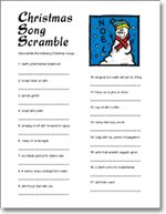 Christmas Carol Game - Christmas party ideas. Printables included