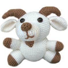 goat Stuffed Animal Crochet Pattern. (this pattern costs 5 dollars, FYI)
