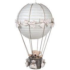 Lampe montgolfière vichy beige : Pasito a pasito - Lampe montgolfière - Berceau Magique
