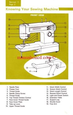 sears service manual 1340 sewing machine