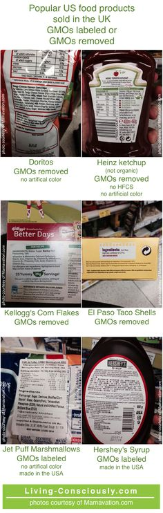 GMO labeling is NOT impossible, pictures of major US products already labeled for sale in the UK are below.