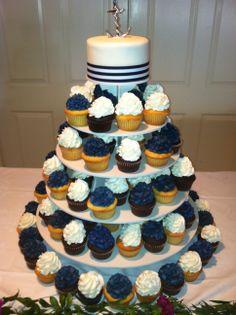 Simple nautical cupcakes | Nautical Cupcake Tower