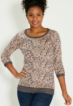 patterned pullover with long sleeves - #maurices