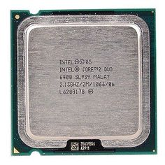 Intel Core 2 Duo E6400 2.13GHz 1066MHz 2MB S775 DualCore CPU by Intel. $93.00. Maximum everything. Energy-efficient performance and multimedia power! Based on the revolutionary Intel Core micro architecture, this Intel Core 2 Duo Desktop Processor E6400 is designed to provide powerful energy-efficient performance so you can do more at once without slowing down! With features including 2.13 GHz clock speed, 1066 MHz bus speed and a 2 MB L2 Cache, this Intel Core 2 Duo desktop p...
