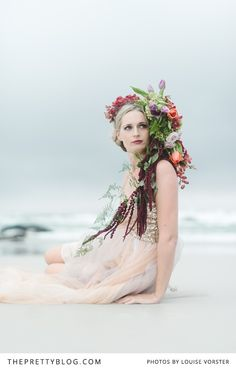 How beautifully whimsical? | Photographer: Louise Vorster Photography | Flowers : Anli Wahl Flowers & Event Styling | Model : Lindie Meyer | Hair & Make-Up : Minke du Plessis | Cake : The Birdcage | Videographer : Silent Video Productions | Suit : Moi Styling