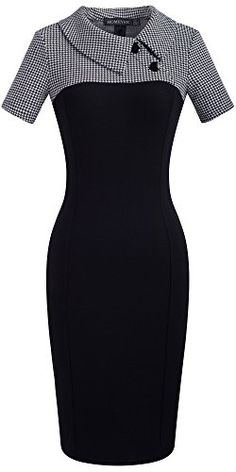 - Homeyee Frauen Retro Chic Colorblock Revers Karriere Tunika Kleid – # - Source by moda Trendy Dresses, Elegant Dresses, Vintage Dresses, Nice Dresses, Dresses For Work, Retro Chic, African Fashion Dresses, African Dress, Patchwork Dress