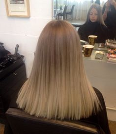 Soft blonde Balayage colour melt with Loreal colour, cut and blowdry
