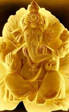 """Shubh prabhat"" means good morning! Ganesh is depicted. Jai Ganesh, Shree Ganesh, Ganesha Art, Shiva Shambo, Krishna, Ganesh Wallpaper, Lord Ganesha Paintings, Ganesh Images, Lord Shiva Family"