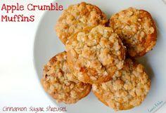Healthy Vegan Apple Crumble Muffins - Ceara's Kitchen