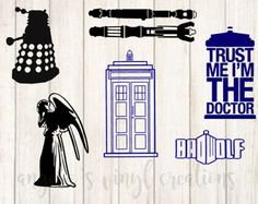 Weeping Angel: 6 x 3.4 inches Dalek: 6 x 4.1 inches Trust Me Im The Doctor: 6 x 3.3 inches Tardis: 6 x 3 inches Bad Wolf: 3 x 6 inches Sonic Screwdrivers: 2 x 6 inches   Your decal is cut from high quality Oracal brand vinyl. It is weeded with love and care to create a beautiful finished product. Colors may vary slightly according to your phone/computer settings.  You can apply your decal to any hard, non-porous surface.  >Permanent Vinyl can be applied to surfaces such as laptops, d...