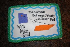 A Going Away Cake For My Daughters Best Friend on Cake Central Goodbye Cake, Goodbye Party, Going Away Cakes, Going Away Gifts, Moving Away Parties, Graduation Cake Designs, Goodbye And Good Luck, Suitcase Cake, Farewell Cake