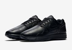 Perforated Leather Covers The Nike Lunar Flow Triple Black