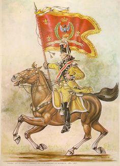 Regno di Spagna - Numancia 1805 Dragones nº 7. Portaguión