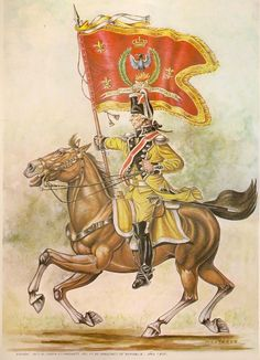 Spanish Numancia 1805 Dragoons 7. Regt Flag bearer