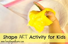 Teach Toddlers about shapes with this easy art activity
