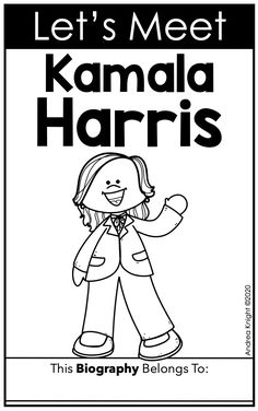 Second Grade Books, Social Studies Book, Biography Books, Organization And Management, Primary Resources, First Grade Teachers, Primary Classroom, Kamala Harris, Vice President