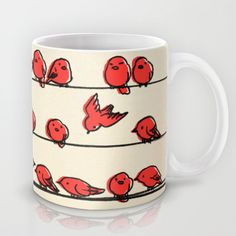 Hanging Out Mug by Eric Fan - $15.00