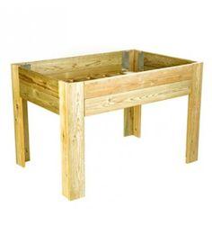 En www.ecobrotes.es encontrarás una gran variedad de #mesasdecultivo para tu #huerto en casa. Como esta de madera con certificado #FSC. $227 (aprox. según cambio)