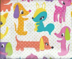 NEW Michael Miller Fabric Plush Puppy by BelloBerryFabricShop Spotted Animals, Cute Squirrel, Polka Dot Background, Fabric Design, Textile Design, Michael Miller Fabric, Textiles, Beach Kids, Easy Craft Projects