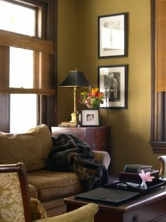 apartment therapys 10 colors that work well with wood trim ralph lauren house tours and paint colors - Dining Room Paint Colors Dark Wood Trim