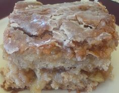 Sounds like another Christmas morning brunch idea!  Apple fritter cake. I made this last night, OMG! Tastes just like an apple fritter! Delish and easy to make!