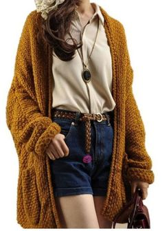 Sweater: cardigan, open front sweater, open front cardigan ...