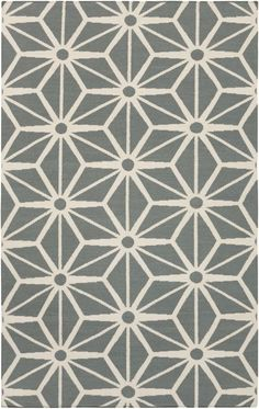 Gray geometric Fallon rug from Surya