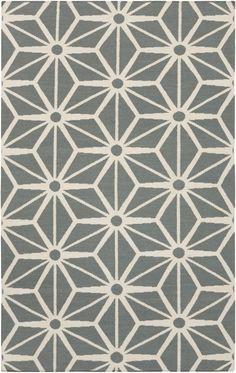 Gray geometric Fallon rug from Surya