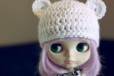 Cutie Bear Hat Doll - Free Crochet Pattern here: http://redvelvetgirls.typepad.com/myweblog/2010/02/cutie-bear-hat-pattern.html