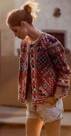 I have a jacket like this. And I'm still trying to figure out ways to style it. Boho Style Jacket