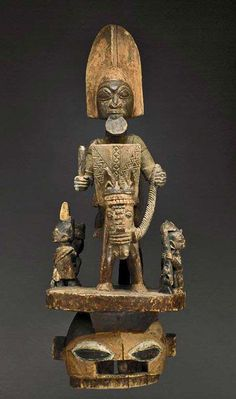 'Epa'-mask-from-the-Yoruba-people-of-Nigeria--Wood-and-pigment