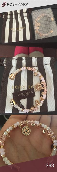 Henri bendel 2016 bracelet This is brand new and one of their new styles! It's absolutely gorgeous. Gold plated with pale pink and white stones! Available on their website at 78$ plus tax & shipping. Comes with dust bag. I'm always open to offers but for this one my price is firm as its a new edition. ️️ : 60$ shipping included. henri bendel Jewelry Bracelets