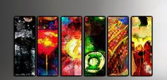 These are 6 Justice League art panels, previously only available as a large art canvas collection! There are 6 panels included in this set- Superman,