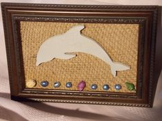 Dolphin Framed Display by MumkenzGiftShop on Etsy