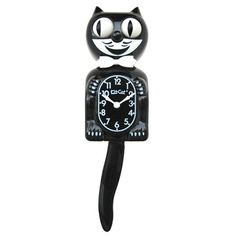 Classic Black Kit Cat Wall Clock - x in. Eclectic Clocks, Kit Kat Clock, Kansas, Retro Apartment, Apartment Living, Living Rooms, Cat Clock, Moon Clock, Black Clocks
