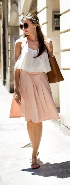 cami top with midi skirt