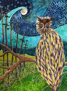 """"""" Owl Forest Night, I Will Always Have The Night """" by Shellie."""