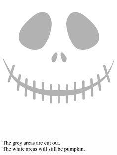 molde Jack para decorar abóbora de Halloween
