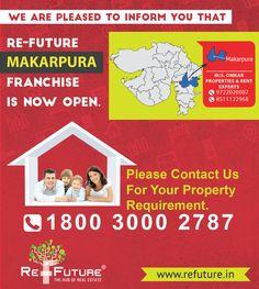 RE-FUTURE : Opening New Franchise Office in Makarpura Area , Vadodara.. Real Estate, India, Future, Goa India, Future Tense, Real Estates, Indie, Indian