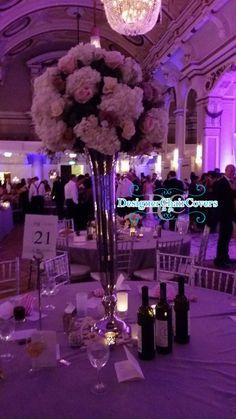 TheGrand Connaught rooms wedding trumpet vase flowers