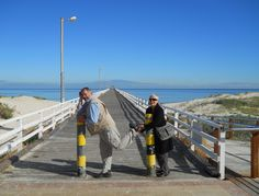 Cliffe Connor & Lyell Horwood at the ocean in South Australia. http://www.riverdellspiritualcentre.org.au/