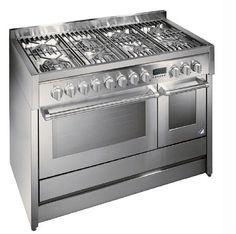 gas range cooker GENESI: G12FF-8 STEEL