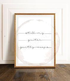 Still My Guitar Gently Weeps // Beatles Song Lyrics, While My Guitar Gently Weeps Quote Print, Beatles Poster, Typography Print, Digital Art by ThatMugShot on Etsy