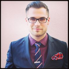 Yes. Dare to be bold. Contrast color and pattern on the pocket square. - prep hip nerd...chic