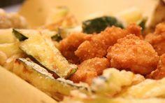 Frittura di coniglio disossato e verdure pastellate
