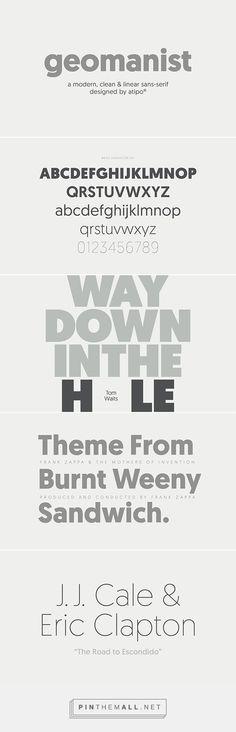 geomanist font on Behance - created via http://pinthemall.net